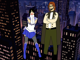 Sailor Crystal and Tuxedo Bigby Wolf  by Trevor911