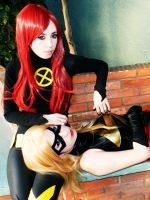 Jean and Marvel by lulysalle