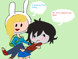 Fionna and Marshall lee- REQUEST by Cartoonfangirl4