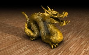 The Golden Dragon!! by TheOneAndOnlyCreator