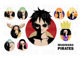 One Piece Minimalist Poster: Mugiwara Pirates by MinimallyOnePiece