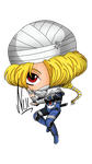 Sheik as Chibi by BubbleGumPlayer133