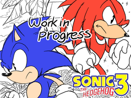 Sonic the hedgehog 3 w.i.p by icha-icha