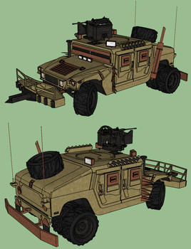 Lightless City - Jacob's Humvee by RustyHauser