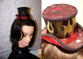 Flaming Top Hat by ADreamersImagination