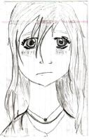 Random Anime Girl-Sad by megngarnett