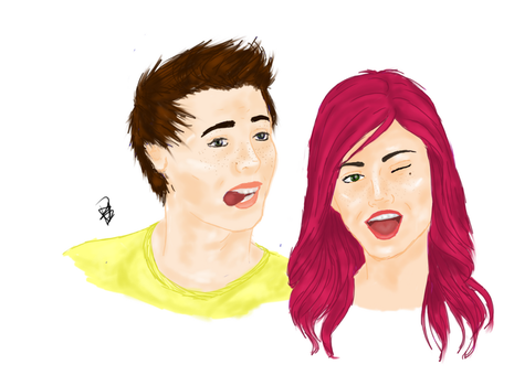 Started Picture of Willow and Pierce by Pamelaiswise