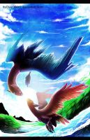 Latios and Latias by ItsOver900O