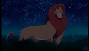 Simba At Night by dyb