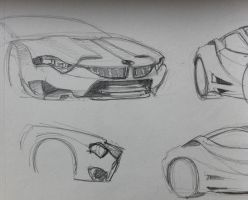 BMW concept sketches... by sandreezy
