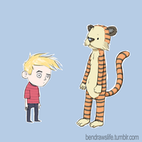 Calvin and Hobbes by bensigas