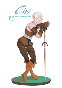 C for Ciri (The Witcher 3) by LeoRenahy