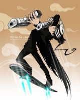 Soul Eater.Death the kid by jen-and-kris