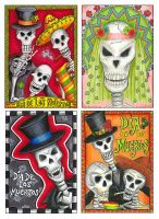ATCs - Day of the Dead by amerasu