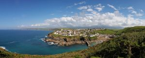 Port Isaac From The Cliffs by runique