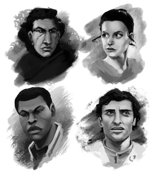 Starwars Cast by BrandonSwanArt