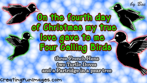 4th day of Christmas 3 by Rebecca329