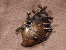 Steampunk heart pendant by ChanceZero