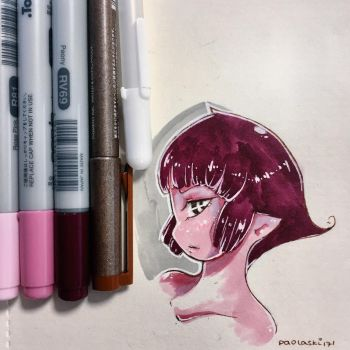 First Scrap with COPIC CIAO #3 by paolaski