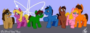Big Bang Theory Ponies by Kanthara