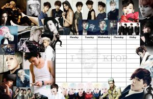 K-Pop Timetable by Clanaad
