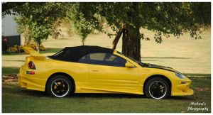 A Yellow Mitsubishi Eclipse Spyder GT by TheMan268