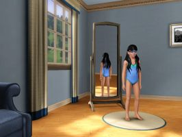 Sims 3 - Me in child form in swimsuit 1 by Magic-Kristina-KW