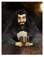 Doodle of Thorin by momofukuu