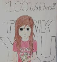 100 WATCHERS!!! by AmandaClara