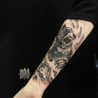 Tattoo Bear by EGOR-DOG