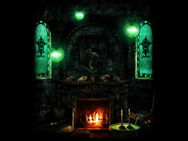 Slytherin Commons - Background by halobear11