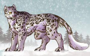 Snow Leopard by IzaPug