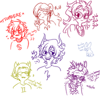 SwapNote style doodles by Lubochka