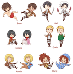 Shingeki no Kyojin Charms by Inedible-Sushi