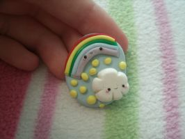Kawaii Cloud and Rainbow Ring by Chubbli
