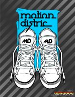 for design tshirt motion distric by askaboyvectorholic