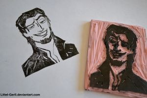 Flynn Rider Wanted Poster Stamp by Littel-Gerll