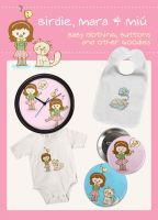 Mara, Miu and Birdie by arwenita