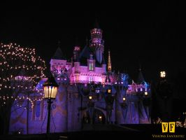 Sleeping Beauty Castle Night by unknowninspiration