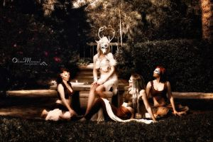 Artemis and Her Retinue of Nymphs by b3designsllc