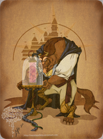 Disney steampunk: Beast by MecaniqueFairy