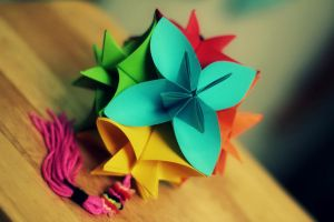 kusudama bloom by leezarainboeveins