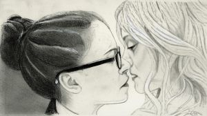 Cophine Kiss (Orphan Black Drawing) by julesrizz