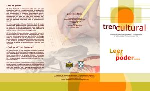 Tren Cultural - COVER Brochure by DonErnesto