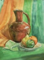 Still life with a flagon by Vall19