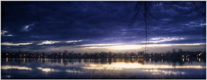 Lakeside Sunset HDR by 007Nab