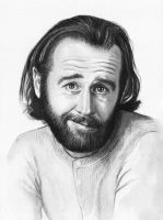 George Carlin Portrait by Olechka01