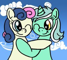 Bon-Bon and Lyra by DragonBlood6400