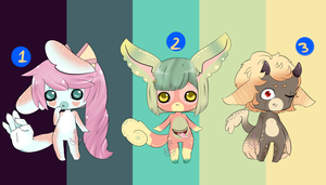 Mixed Anthro Adopts [CLOSED] by 8BitSnake