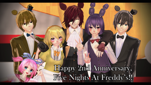 Happy 2nd anniversary, FNAF!! by TwilightAngelTM